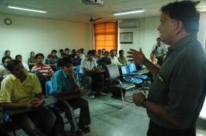 Sridhar interacting with Students at IWSB
