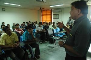 Sridhar interacting with Students at IWSB