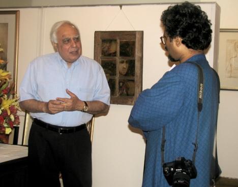 With Kapil Sibal