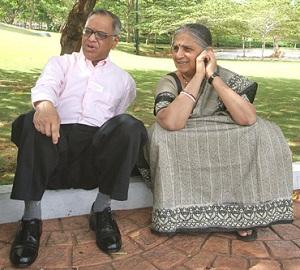 Sudha Murthy and Narayana Murthy